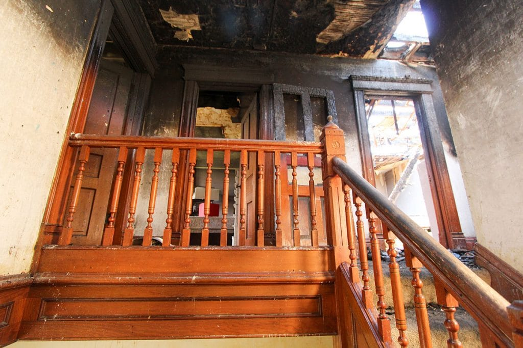 Fire Damage In Home needing major fire damage repair