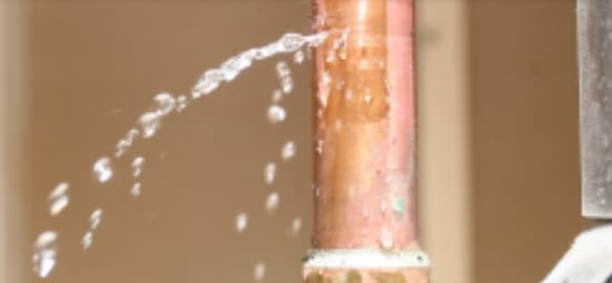 Leaky pipe in need of pipe repairs. Failure to repair can lead to water damage.